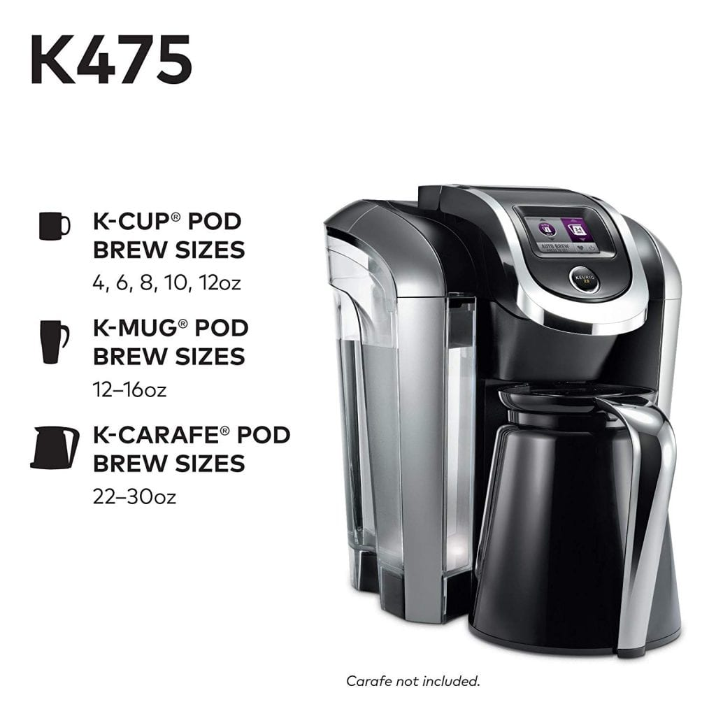Keurig K475 features